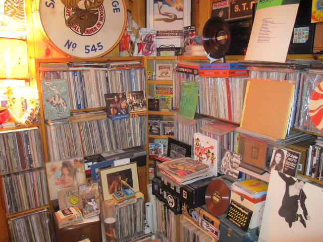 "A corner of the ""RPM"" offices, where some of this music resides."