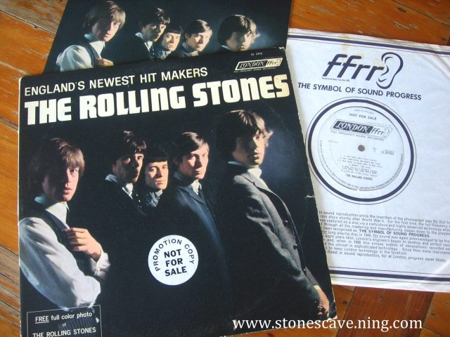 WHITE (LABEL) WHALE: Stones first U.S. LP with bonus picture insert and white label promotional label, 1964. A Mac Daddy collectible that still eludes 'RPM' capture!