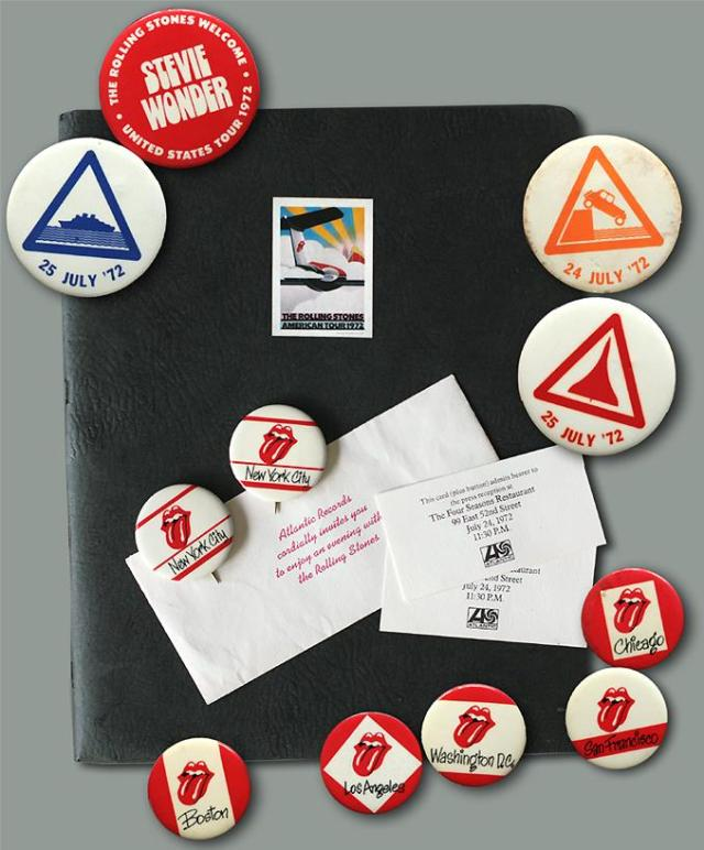 BETWEEN THE BUTTONS: An array of STP 1972 badges, buttons, promo swag and press kit (nope, I do not have this one)