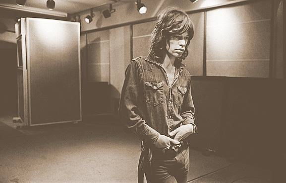 Mick Jagger, Sunset Sound studio in California, early 1972. Photo taken by the great Jim Marshall, whose recent book,