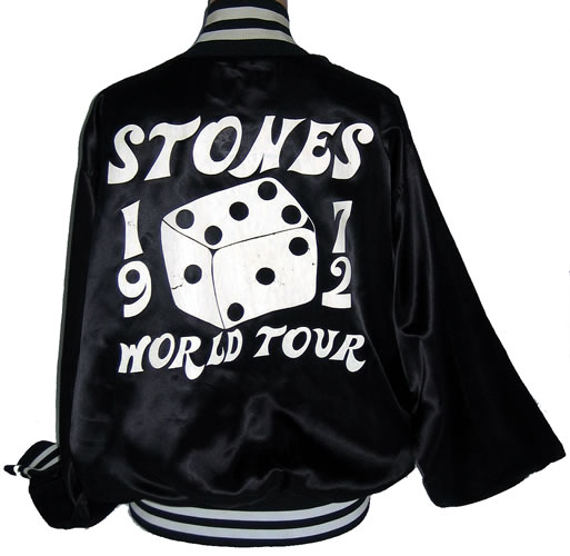 This is my Jagger-designed silk tour jacket specially given out only to the band and road crew/tour members during the 1972 tour in support of