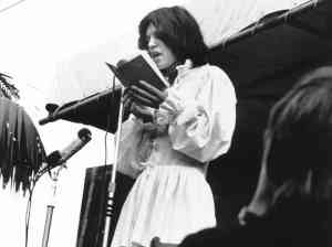 Mick reads Shelley, Hyde Park, July 5, 1969