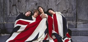 The four-headed hydra at rest.  (L-R: Keith Moon, Roger Daltrey, Pete Townshend, John Entwistle).