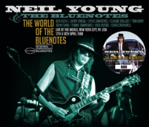 "Cover for Neil Young's ""The World of the Bluenotes"" live triple-disc."