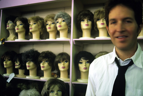 "Fourteen disembodied heads are better than one. Is anyone else slightly troubled by the fact that Steve is smiling with necktie loosened, as if he's just completed something labor intensive? And is this his ""den""?"