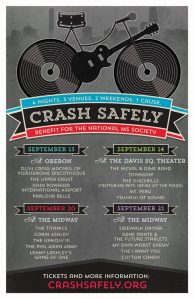 BIKE BENEFIT: One of a series of posters made especially for the Crash Safely 2013 benefit shows