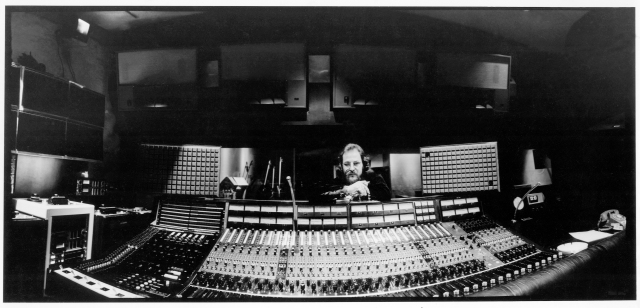 Eddie in his element: Kramer behind the proverbial boards, mixing up another masterpiece. Photo courtesy of the Eddie Kramer Archives