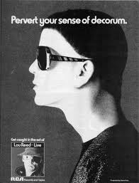 1970s advertisement for Lou Reed solo album.