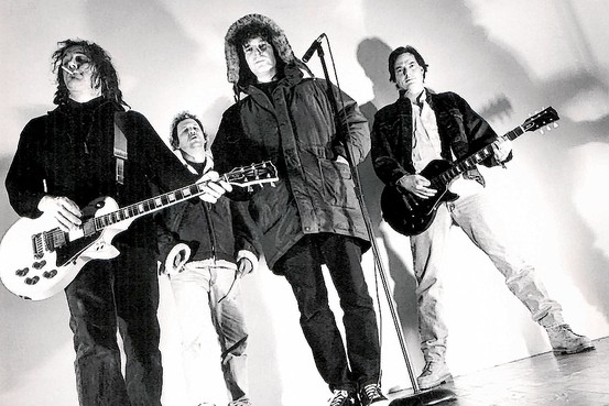 Early GBV publicity shot, mid-90s. Bob expects a chilly reception, perhaps?
