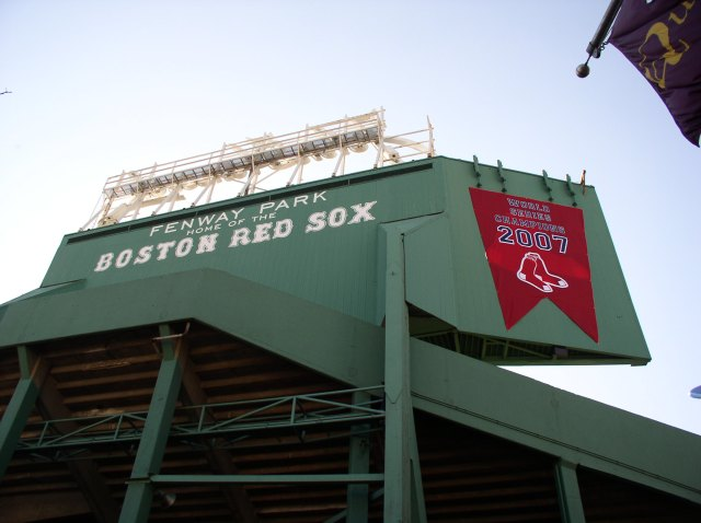 Unfortunately, my dad didn't live long enough to see the 2007 or 2004 World Series championship banners adorn Fenway Park. I took this photo the morning after the Red Sox, after an 86-year-draught, won their second World Series trophy in three years.
