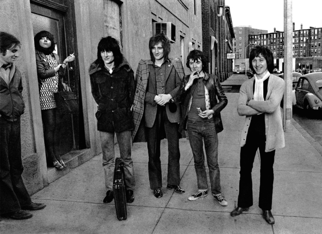 So where's the Combat Zone again? The Faces bide their time on Lansdowne Street in Boston, 1970.