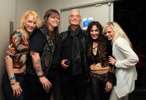 Lez Zeppelin with their muse, Jimmy Page.