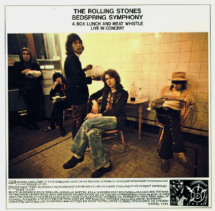 Bedspring Symphony: the full-color cover version of one of the best Mick Taylor-centric Stones live bootleg recordings of all-time. An early obsession of mine.