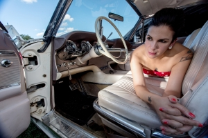 Sarah Borges in the driver's seat