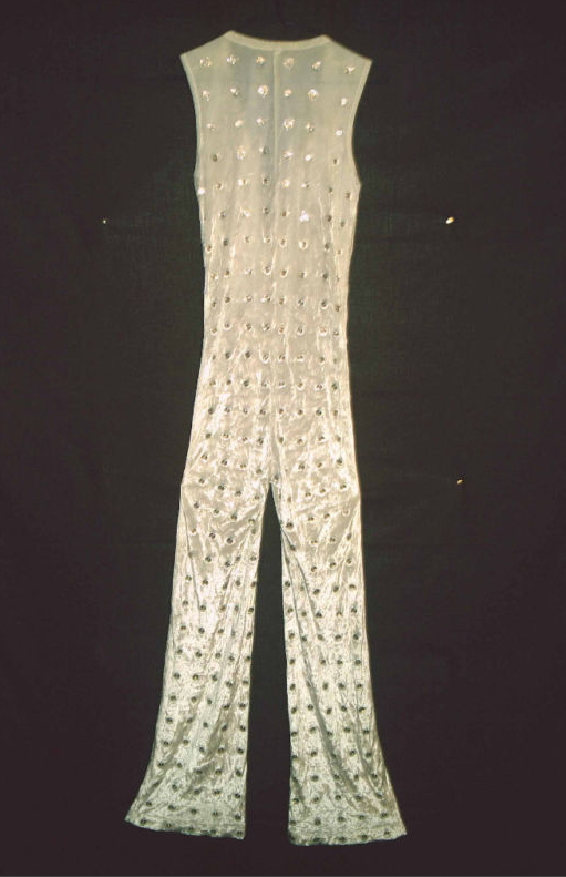 JUMPIN' JACK'S JUMPSUIT: Mick Jagger's '72 stage uniform (one of 'em, anyway), reportedly auctioned for serious money (no, it wasn't me to snagged it...I would need to be in a different line of work). Rumor has it that when she was 16, Georgia raided her dad's tour wardrobe closet, tried it on...and it fit!