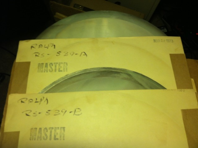 The master pressing plates for TMOQ's