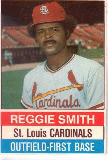 You can bet this switch-hitting bad-ass box top card that Reggie Smith, whom Dan Epstein picks for most underrated player of the '70s, didn't eat a lot of Hostess Cupcakes.