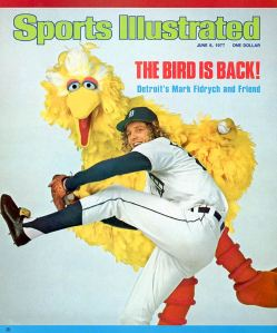 Maybe making the cover of SI IS a curse! The Bird was never the same after '76. The Worcester, Ma. native retired at age 29 after several comeback attempts, and sadly, died at age 54 in an accident involving an overturned tractor he was repairing at his farm outside Boston.