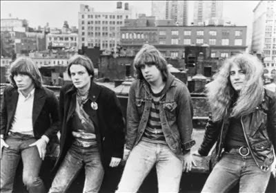 REAL ON A ROOFTOP: The Real Kids around the time of their Red Star Records release, circa 1977