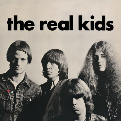 RED STAR REAL KIDS:  The iconic cover (complete with epic font and the epic haircuts!) of the Real Kids debut LP