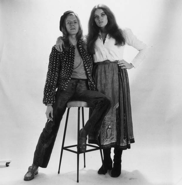 David and Dana get ready for their close-up, publicity photo session, summer 1971.
