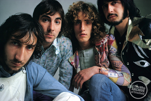 "The four-headed hydra: The Who circa 1971 and ""Who's Next."" Photo courtesy of the Who's official website (you should visit) www.thewho.com."