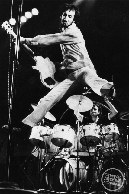 Ups With Peter: Townshend takes flight. Photo courtesy www.thewho.com