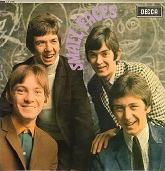 The Small Faces, 1966. L-R: singer-guitarist Steve Marriott, bassist Ronnie Lane, pianist/organist Ian McLagan, drummer Kenney Jones.