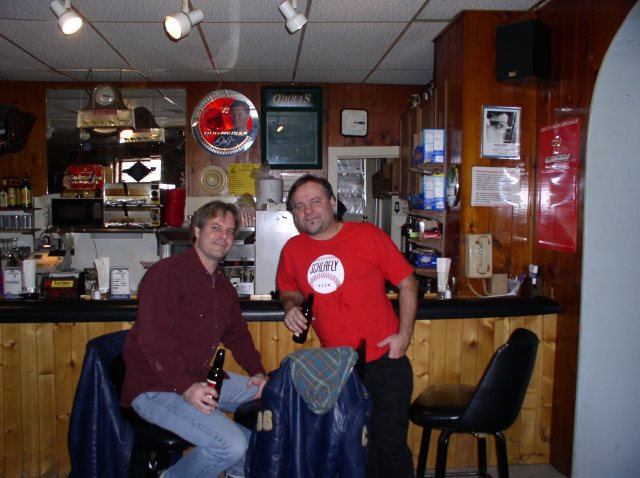 Getting Loose at the Knotty in Clarion, IA, one of several Happy Hours that day, I believe.