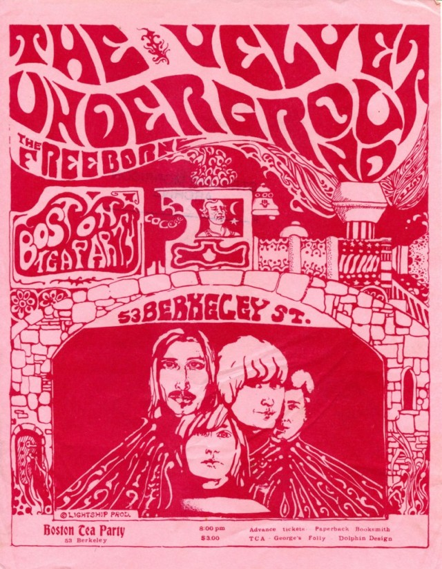 Boston Tea Party poster, 1968-69.