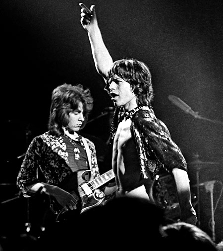 The two Micks on stage at the Marquee Club, March 26, 1971