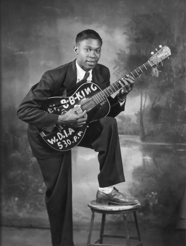 B.B. King in 1948. Photo by Michael Ochs Archives/Getty Images