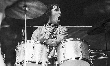 "Better than a girlfriend: Playing the drums brings Keith's ""O"" face!"