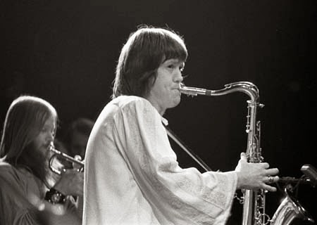 Bobby Keys (with trumpeter Jim Price in background) puts his stamp on another song.
