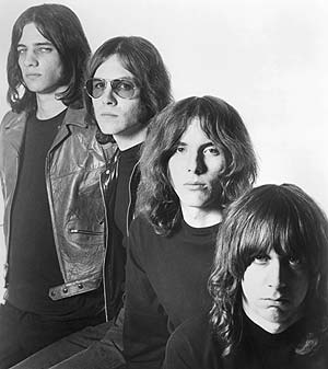 Ready to mug your flower power: The Stooges' photo shoot for their '69 debut.