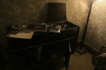 The stereo Victrola and LPs that adorned the flat