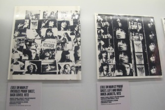 "Oversized cover proofs for the ""Exile On Main St."" double-LP cover, 1972."