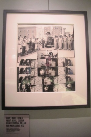 "Don't Wanna Talk About Jesus: Robert Frank's original collage for the inlay LP cover of '72's ""Exile"""
