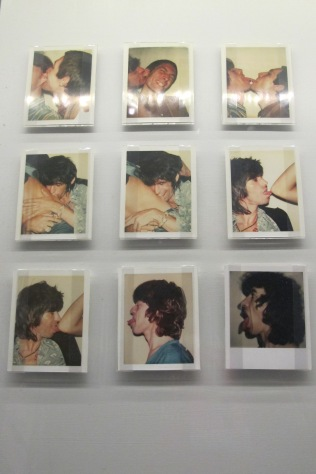 """Andy Warhol Polaroids used in the design of 1977's """"Love You Live"""" double LP cover."""