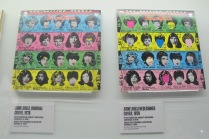 "Keith Richards's personally owned copies of the original non-censored cover (featuring the faces of Lucill Ball, Farrah Fawcett-Majors, Raquel Welch, and Brigitte Bardot), and censored ""under reconstruction"" cover that replaced the original"