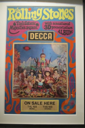"1967 psychedelic ad for ""Their Satanic Majesties Request"""
