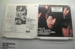 """LP cover mock-up for 1965's U.S. release of """"Out Of Our Heads,"""" which gave the Stones their breakthrough smash (can you guess?) and made them world famous."""