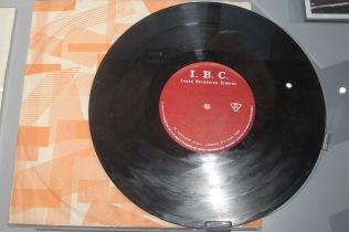 Close-up of the IBC demo acetate recording