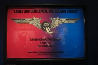 A poster from the greatest Stones concert film ever made of the band on its '72 tour (film released as a limited engagement in 1974 and then, inexcplicably, scarcely seen again until its eventual release some 40 years later on DVD